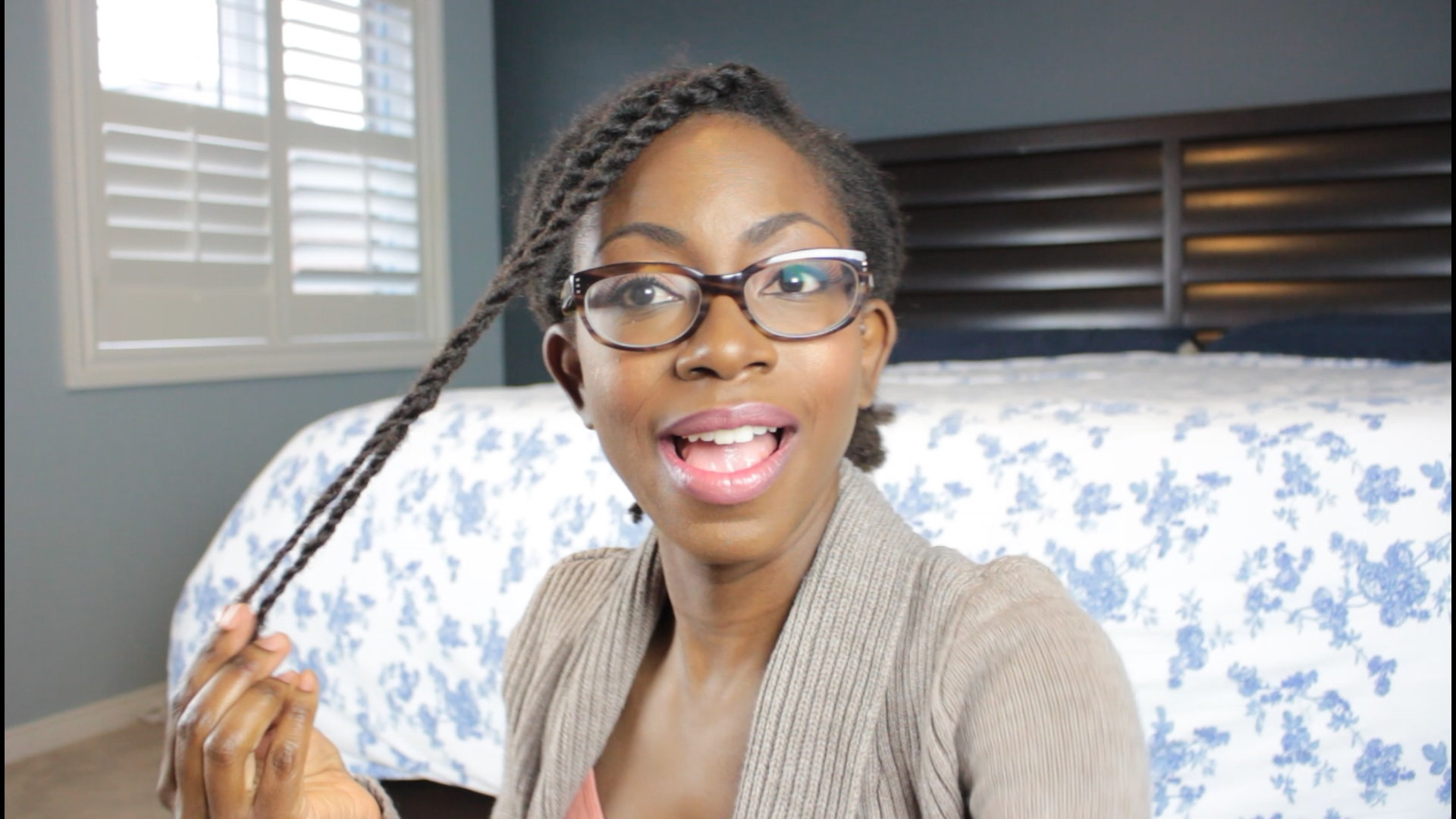 Installing two strand twists on 4c hair has never been easier