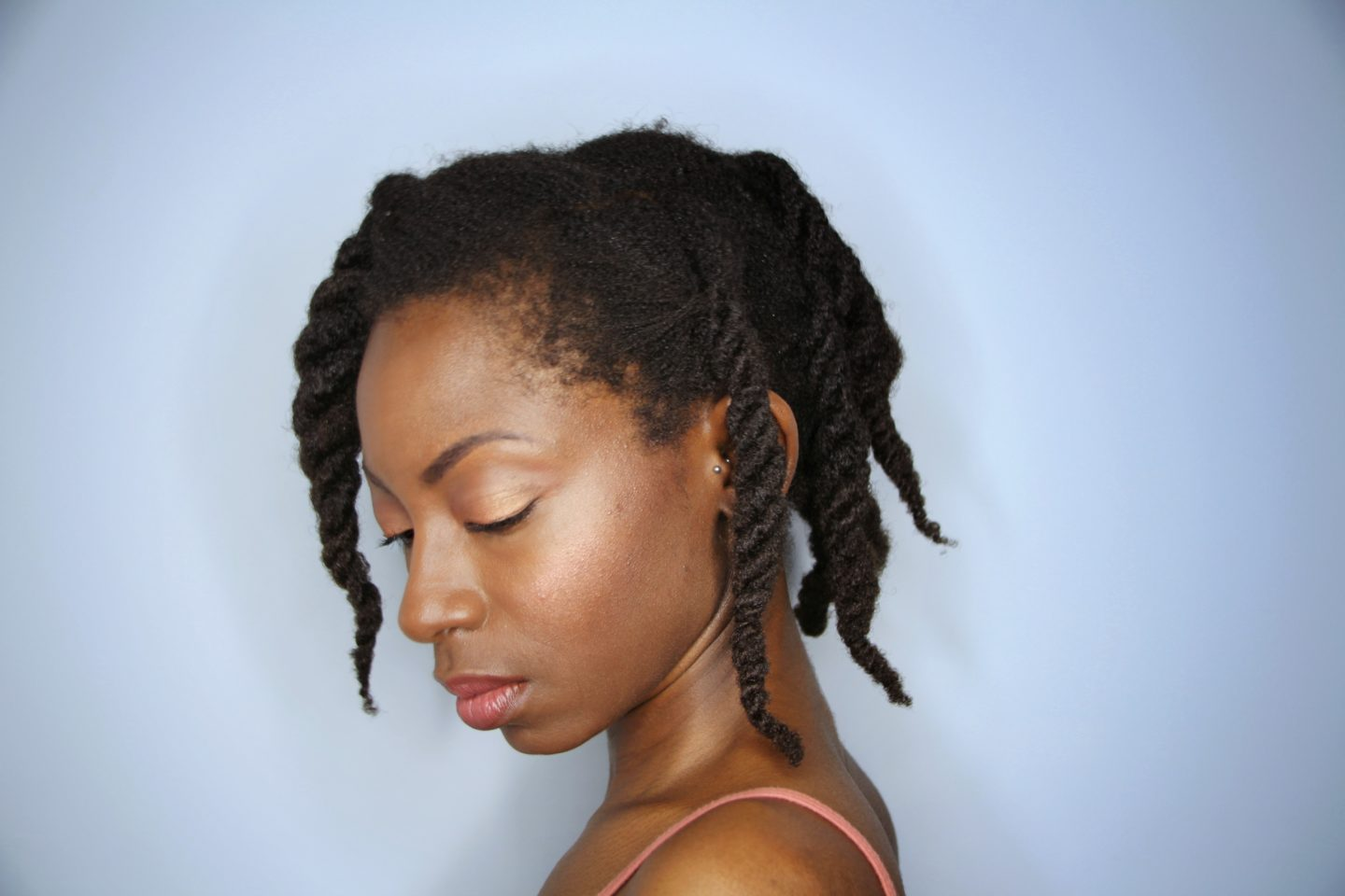 Three Strand Twists on 4c Hair
